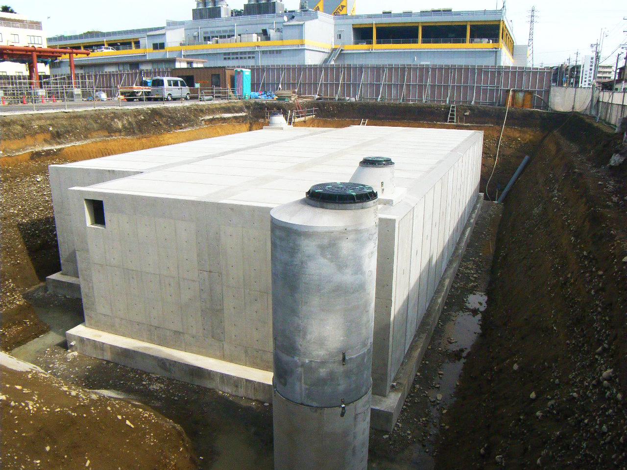 雨水貯留施設整備工事 小牧市