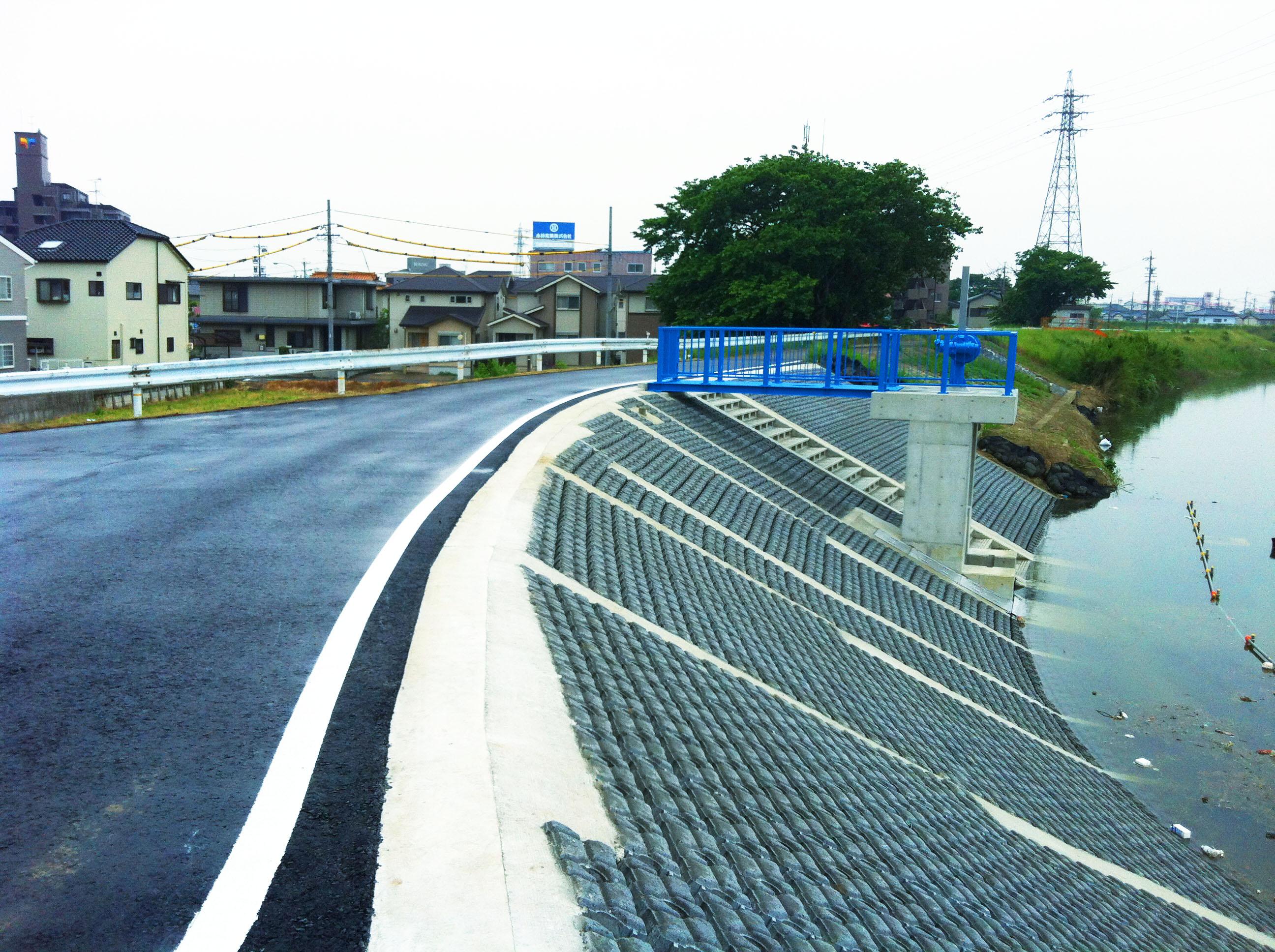 緊急防災対策河川工事五条川 愛知県